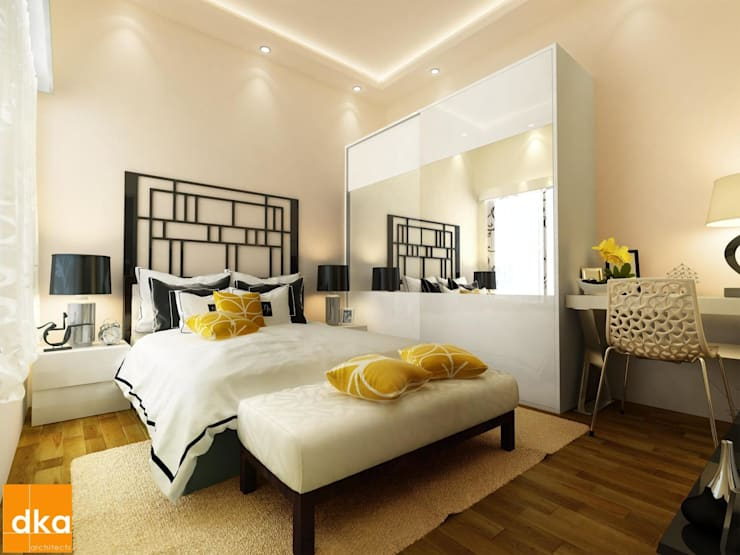 Mockup 3 BED Budget Apartment:  Bedroom by Dutta Kannan architects