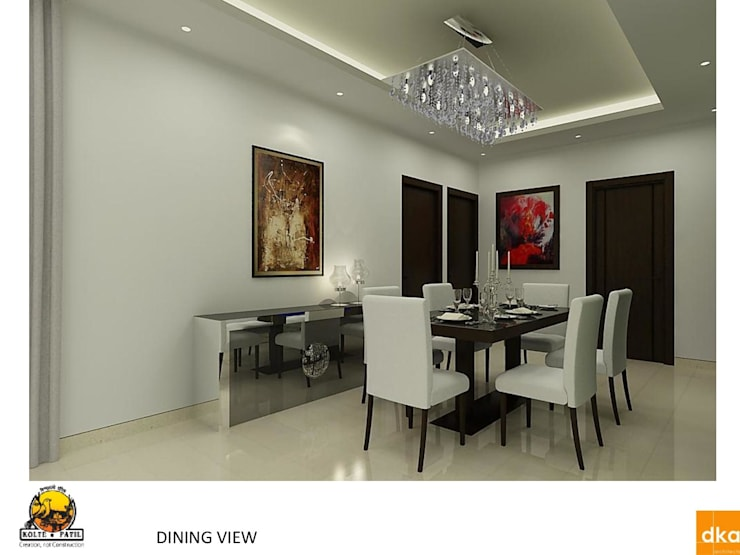 Kolte Patil Mirabillis apartment:  Dining room by Dutta Kannan architects
