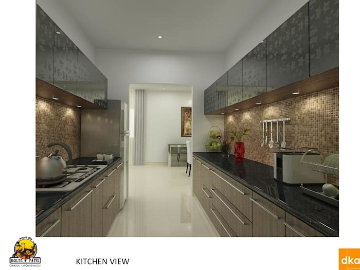Kolte Patil Mirabillis apartment:  Kitchen by Dutta Kannan architects