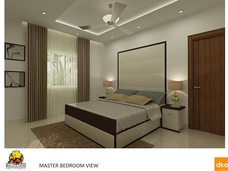 Kolte Patil Mirabillis apartment:  Bedroom by Dutta Kannan architects