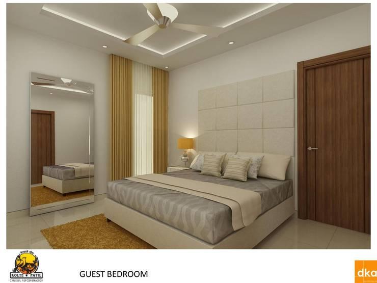 Projekty,  Sypialnia zaprojektowane przez Dutta Kannan architects