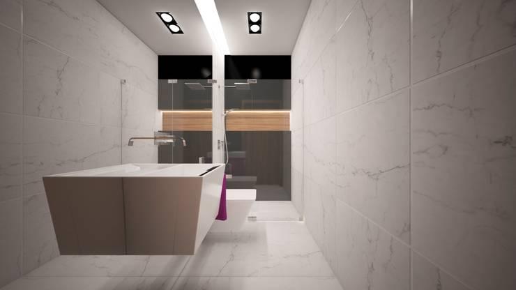 Łazienka : styl , w kategorii Łazienka zaprojektowany przez WIZZARIUM