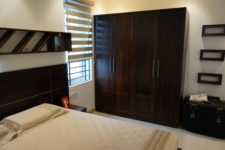 Спальная комната  в . Автор – INOUTSPACE