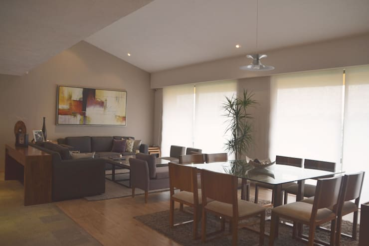 La Loma: Comedores de estilo  por CuboB Arquitectura de Interiores
