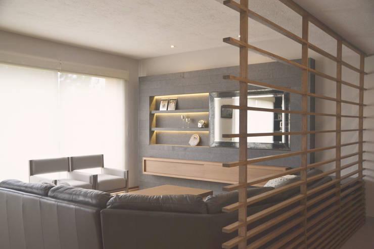 Proyecto Sala Bernardo Quintana: Salas de estilo  por CuboB Arquitectura de Interiores