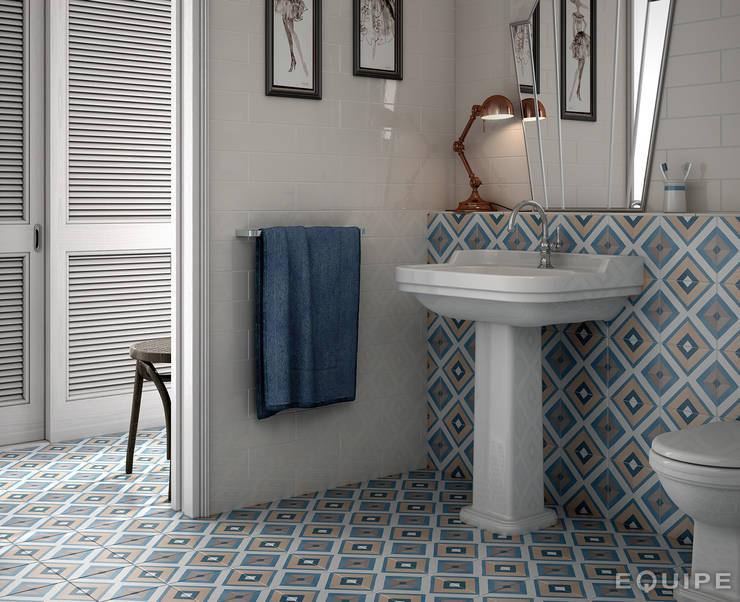 Caprice DECO Square Colours 20x20: Baños de estilo  de Equipe Ceramicas