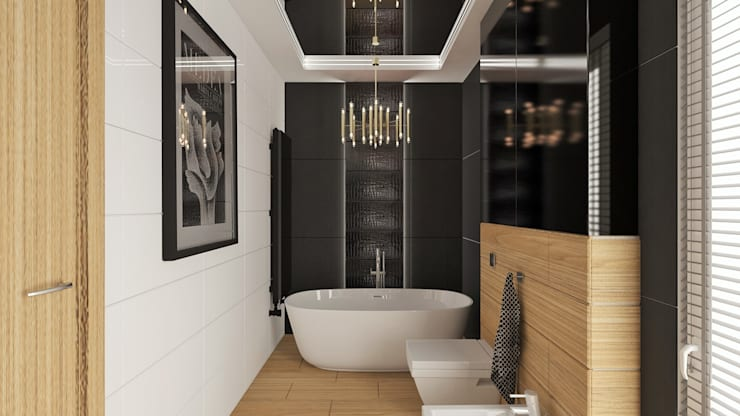 Łazienka : styl , w kategorii Łazienka zaprojektowany przez WIZZARIUM ,