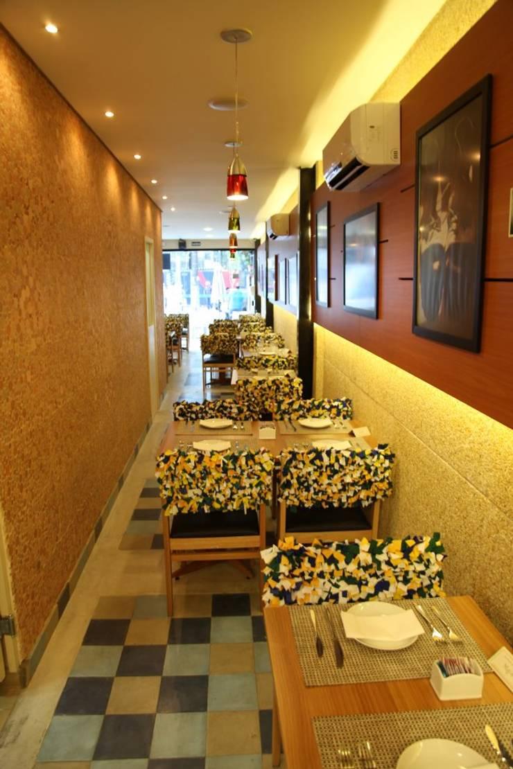 Majó: Espaços gastronômicos  por Atmosfera Arquitetura Sociedade Ltda,Moderno