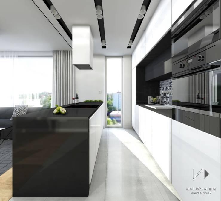 Mieszaknie 80m2: styl , w kategorii Kuchnia zaprojektowany przez Architekt wnętrz Klaudia Pniak