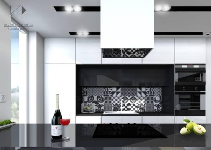 Mieszaknie 80m2: styl , w kategorii Kuchnia zaprojektowany przez Architekt wnętrz Klaudia Pniak,Nowoczesny