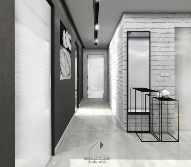 Mieszaknie 80m2: styl , w kategorii Korytarz, przedpokój zaprojektowany przez Architekt wnętrz Klaudia Pniak