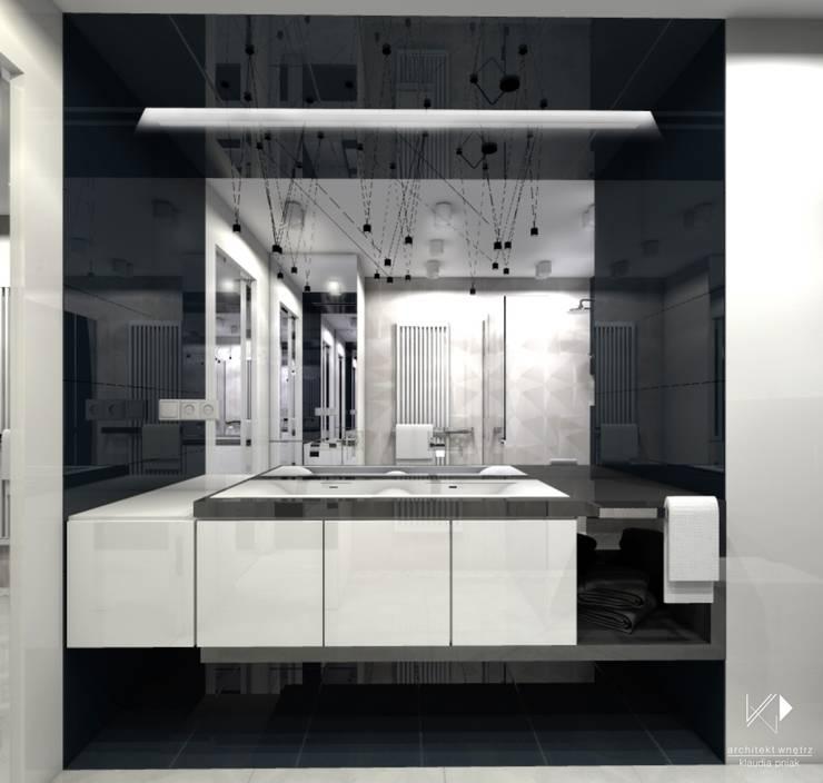 Mieszaknie 80m2: styl , w kategorii Łazienka zaprojektowany przez Architekt wnętrz Klaudia Pniak,Nowoczesny