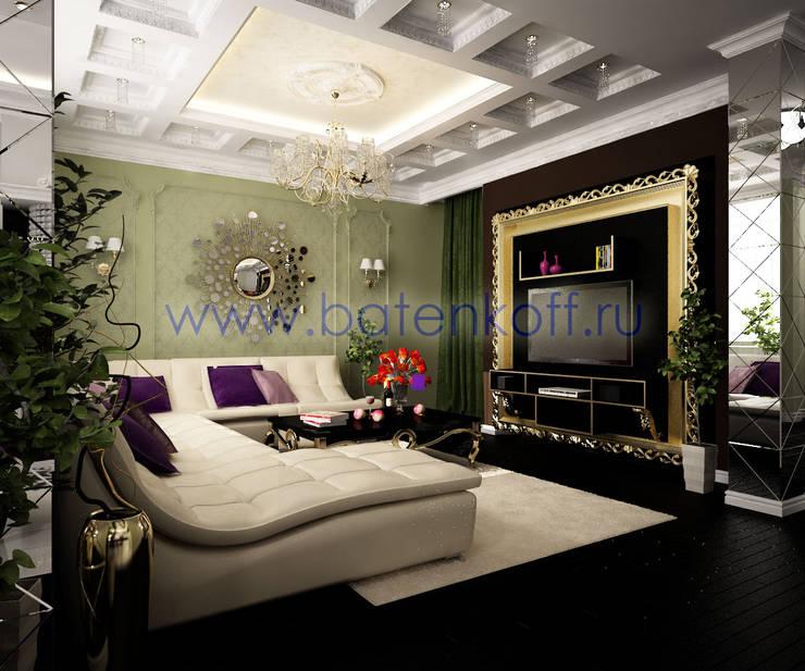 Дизайн проект кухни столовой гостиной : Гостиная в . Автор – Дизайн студия 'Дизайнер интерьера № 1'
