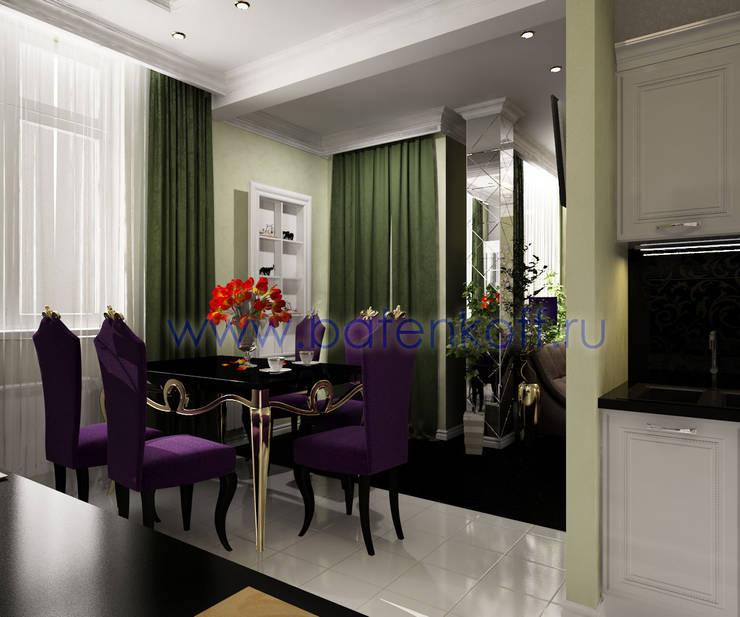 Дизайн проект кухни столовой гостиной : Столовые комнаты в . Автор – Дизайн студия 'Дизайнер интерьера № 1'