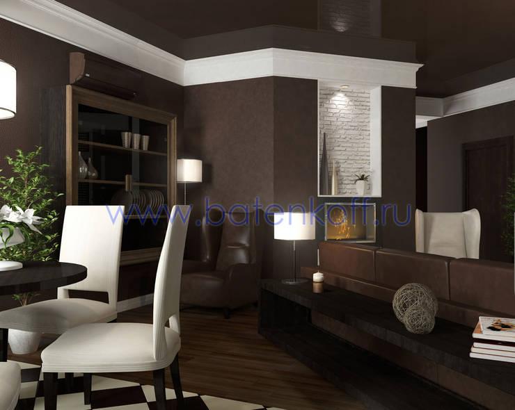 Дизайн проект гостиной кухни: Гостиная в . Автор – Дизайн студия 'Дизайнер интерьера № 1',