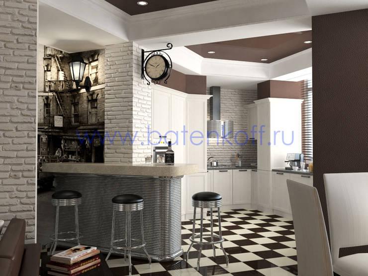 Дизайн проект гостиной кухни: Столовые комнаты в . Автор – Дизайн студия 'Дизайнер интерьера № 1',