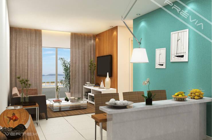 Sala de estar: Salas de estar  por Studio HG Arquitetura,