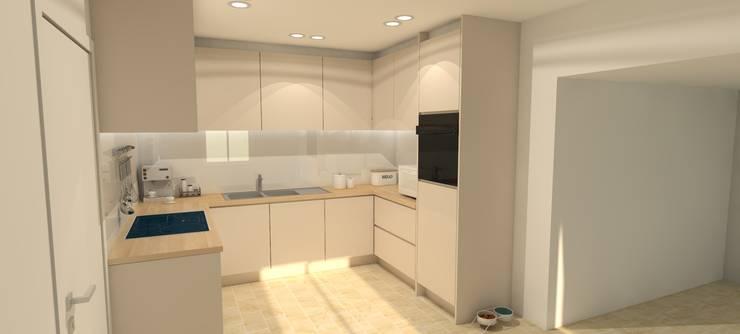 Moderne keuken kleinere ruimte: modern  door AD MORE design, Modern
