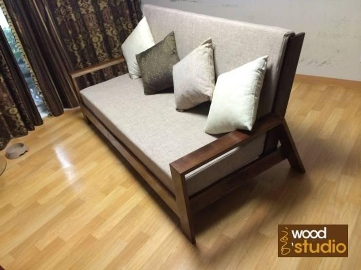 원목 소파 (walnut sofa): 홍스목공방의 스칸디나비아 사람 ,북유럽 우드 우드 그레인