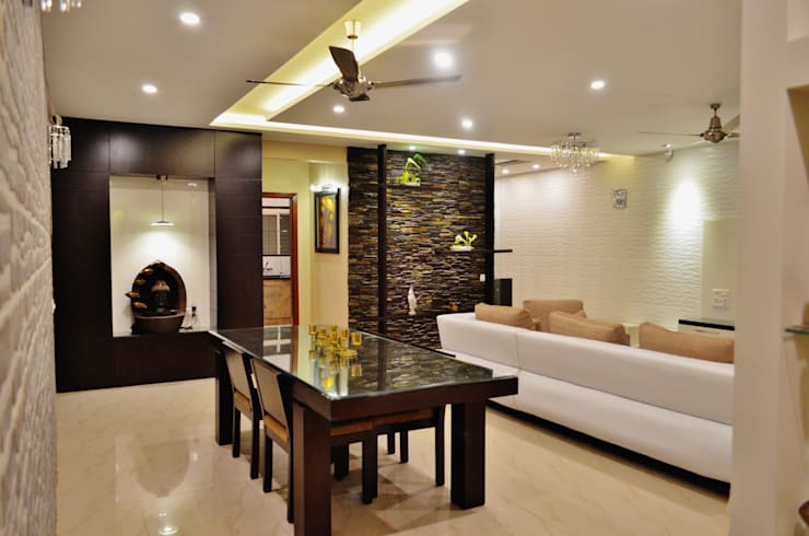 """<q class=""""-first""""> I Belong To U </q>:  Dining room by Artis Interiorz Private Limited"""