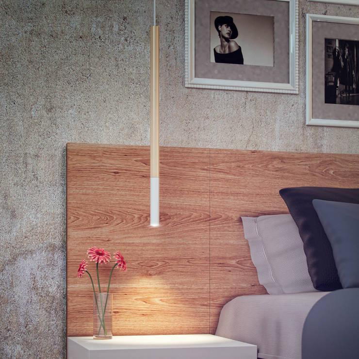 Progetti: Camera da letto in stile in stile Moderno di irregolare
