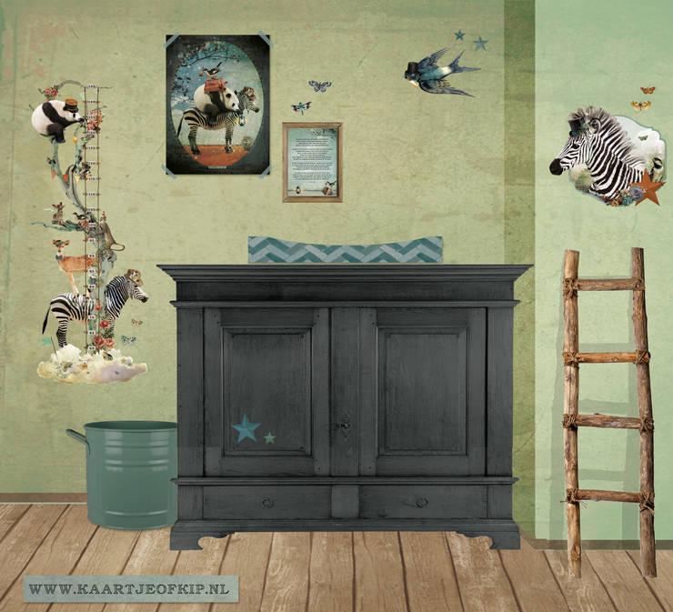 """Kaartje of Kip Deco-set """"Panda en Zebra"""":  Kinderkamer door Kaartje of Kip"""