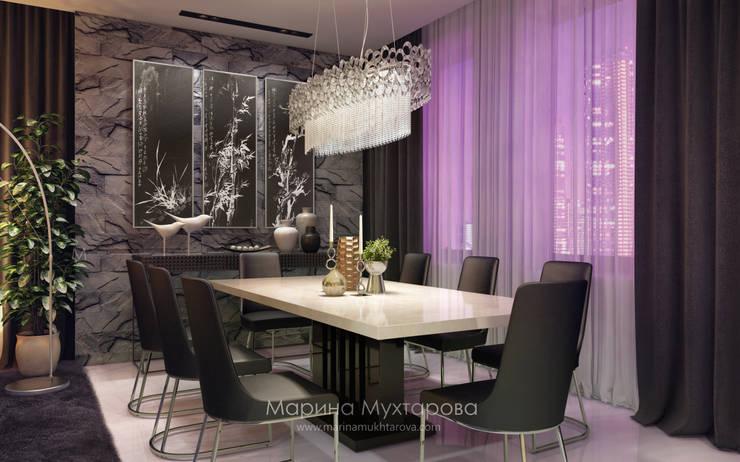 Столовая: Гостиная в . Автор – Архитектор-дизайнер Марина Мухтарова