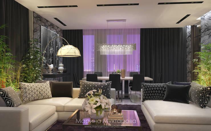 Гостиная: Гостиная в . Автор – Архитектор-дизайнер Марина Мухтарова