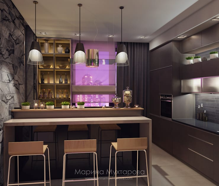 Кухня: Кухни в . Автор – Архитектор-дизайнер Марина Мухтарова