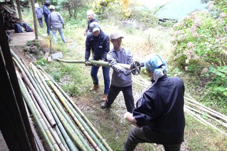 Murs & Sols originaux par 建築設計事務所 山田屋 Éclectique Bambou Vert