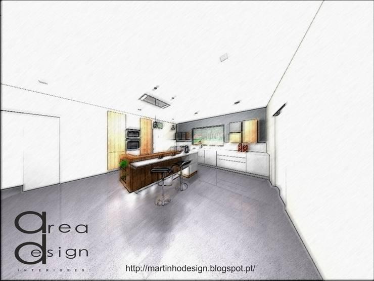 3D LÁPIS COR:   por Area design interiores - cozinhas em Braga