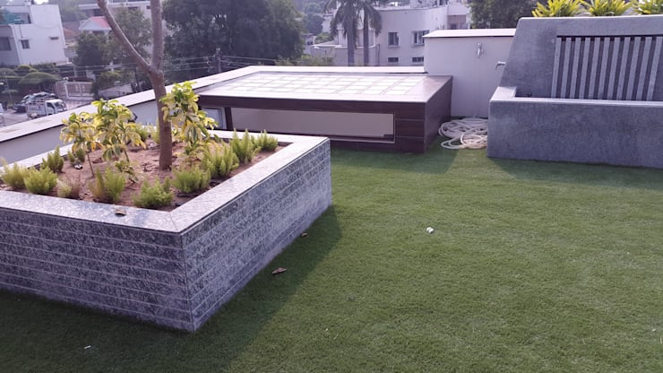 faux grass:  Terrace by JRD Associates