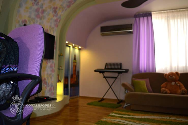 Дизайн дома 120 м2: Детские комнаты в . Автор – Contempodes