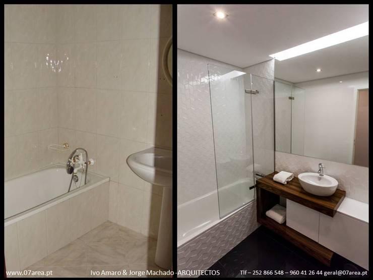 restauro de Apart. – Arqtos Ivo Amaro @ Jorge Machado: Casas de banho  por AreA7
