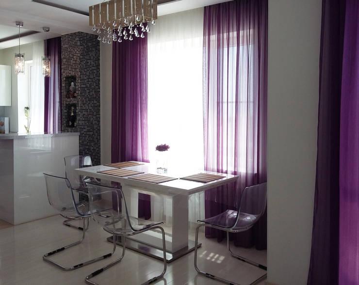 Квартира-студия г.Новороссийск: Гостиная в . Автор – Yana Ikrina Design,