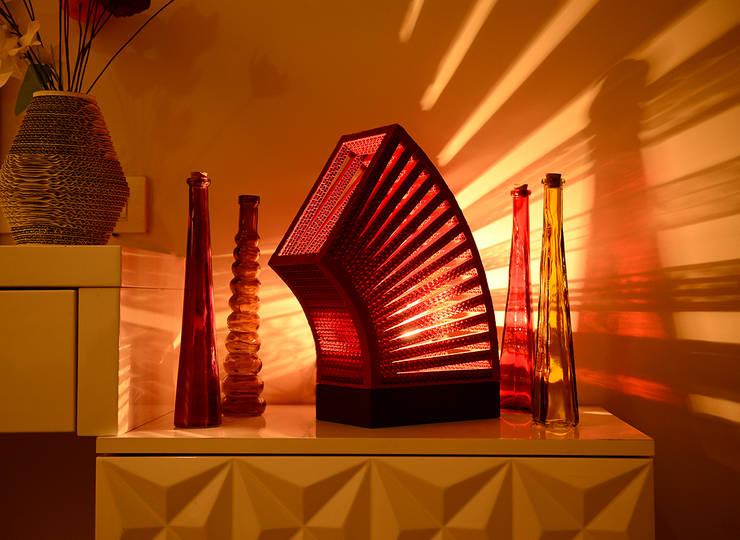 Sustainable Handmade Sylvn Studio Rondeur Red Table Lamp: modern Living room by Sylvn Studio