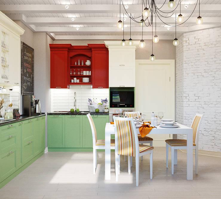 Три разных интерьера для одной кухни: Кухни в . Автор – Студия дизайна Interior Design IDEAS