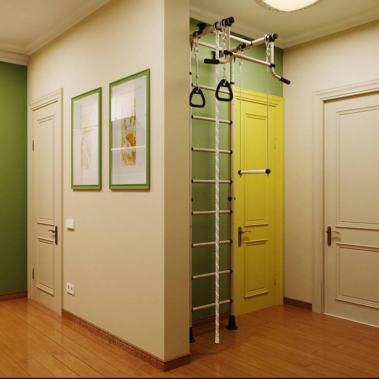 Модная прихожая в двух цветах: Коридор и прихожая в . Автор – Студия дизайна Interior Design IDEAS