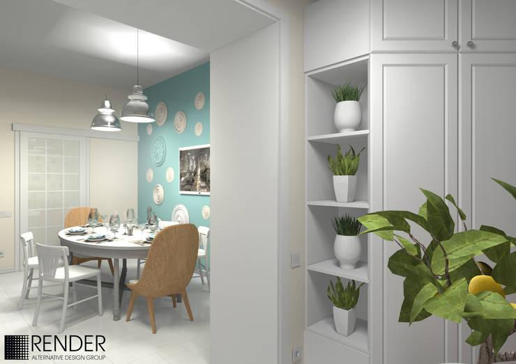 Кухня в скандинавском стиле: Кухни в . Автор – RENDER