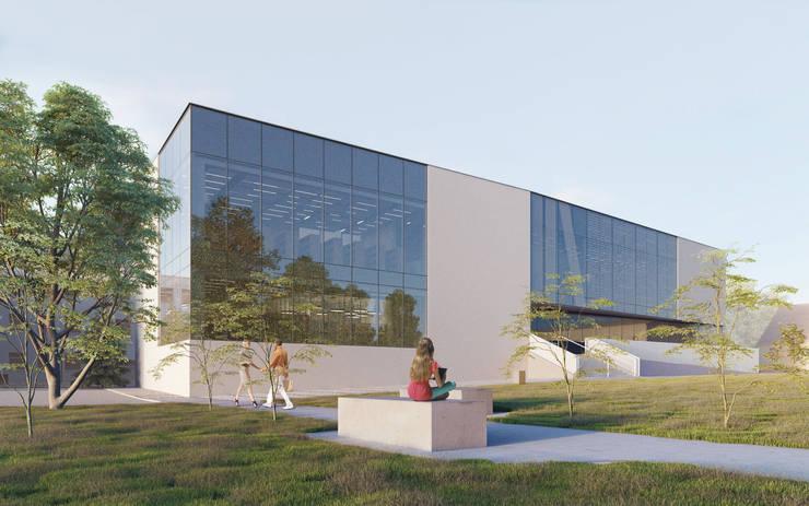Museos de estilo moderno de PL+sp. z o.o. Moderno Vidrio