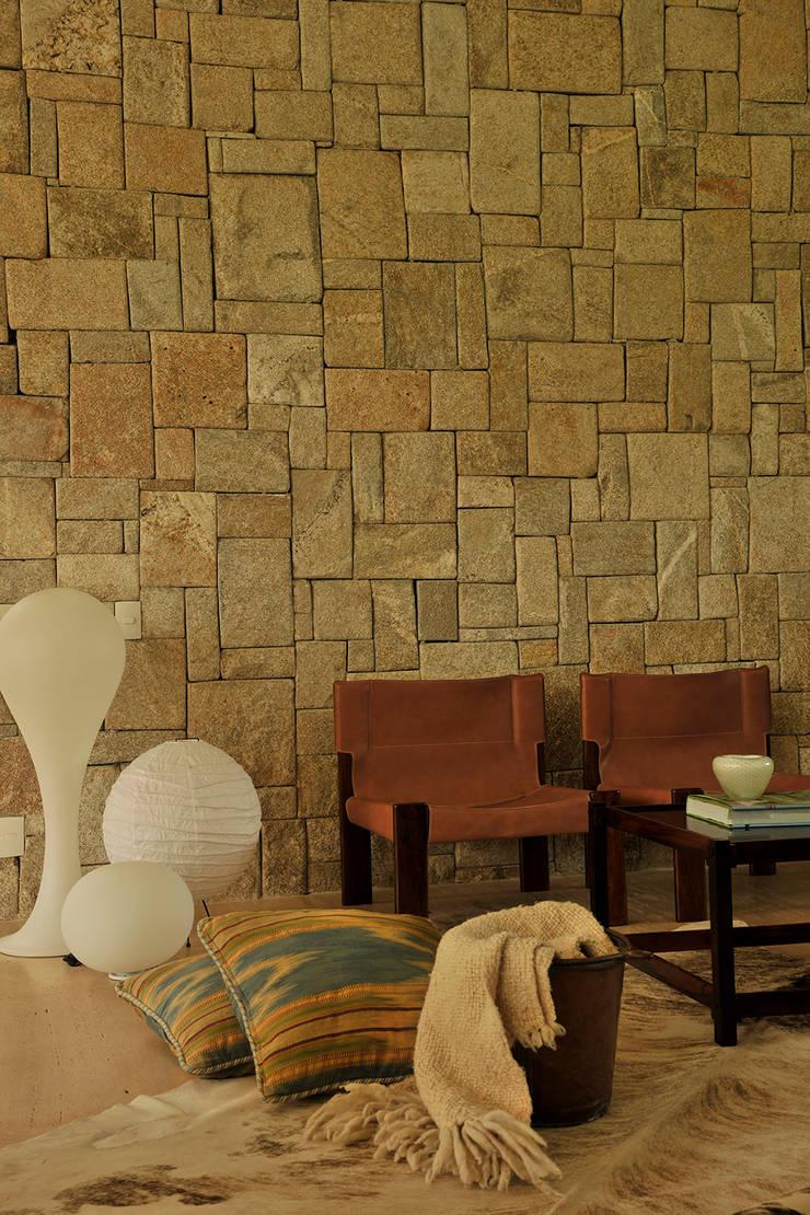 Residência VD: Salas de estar  por isis chaulon arquitetura