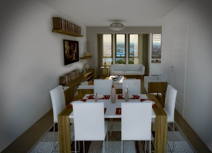 CCT INVESTMENTS – CCT 155 Project in Halic: modern tarz Yemek Odası