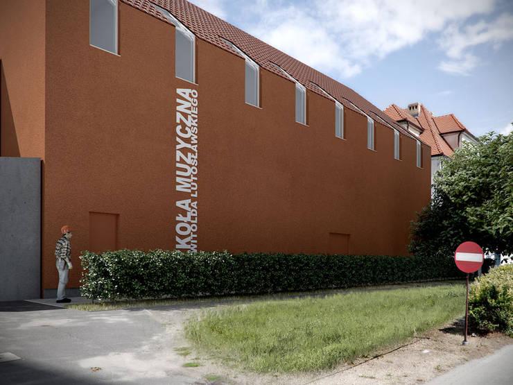 ROZBUDOWA SZKOŁY MUZYCZNEJ, PL+: styl , w kategorii Szkoły zaprojektowany przez PL+sp. z o.o.