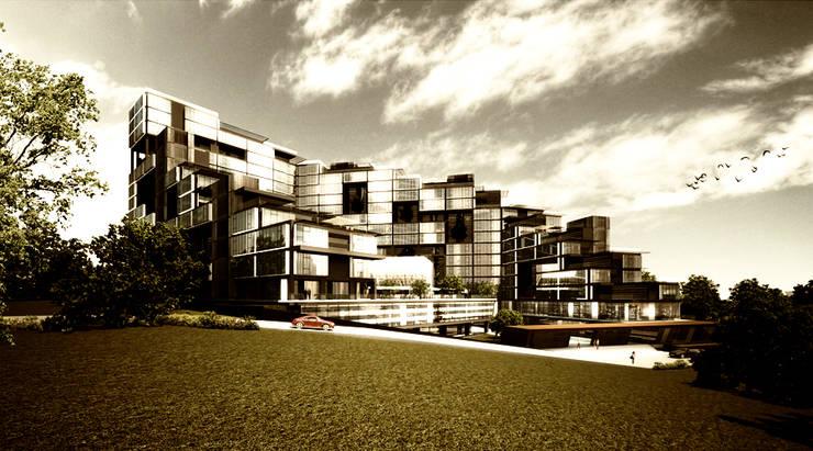 apak mimarlık – Nef Maslak: modern tarz Evler