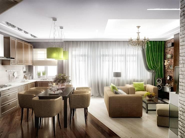 Кухня-гостинная: Кухни в . Автор – Проектное бюро O.Diordi
