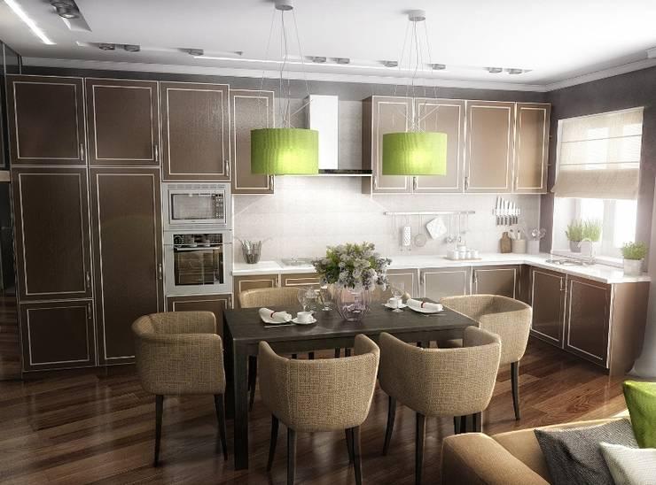 Кухня-гостинная: Гостиная в . Автор – Проектное бюро O.Diordi