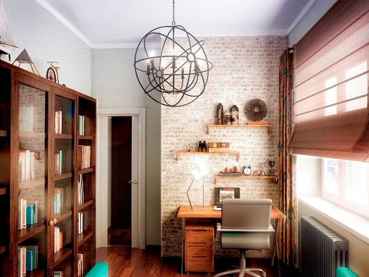 Кабинет: Гостиная в . Автор – Проектное бюро O.Diordi