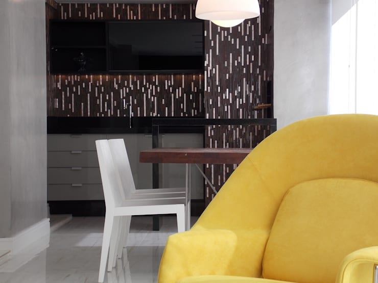 Apartamento A+R Varandas, alpendres e terraços modernos por Tiago Rocha Interiores Moderno