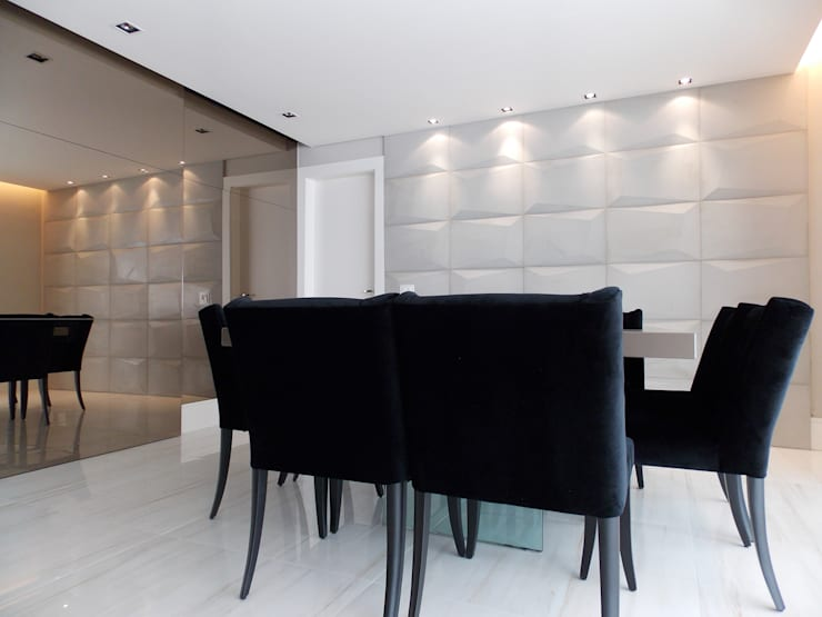 Apartamento A+R: Salas de jantar  por Tiago Rocha Interiores