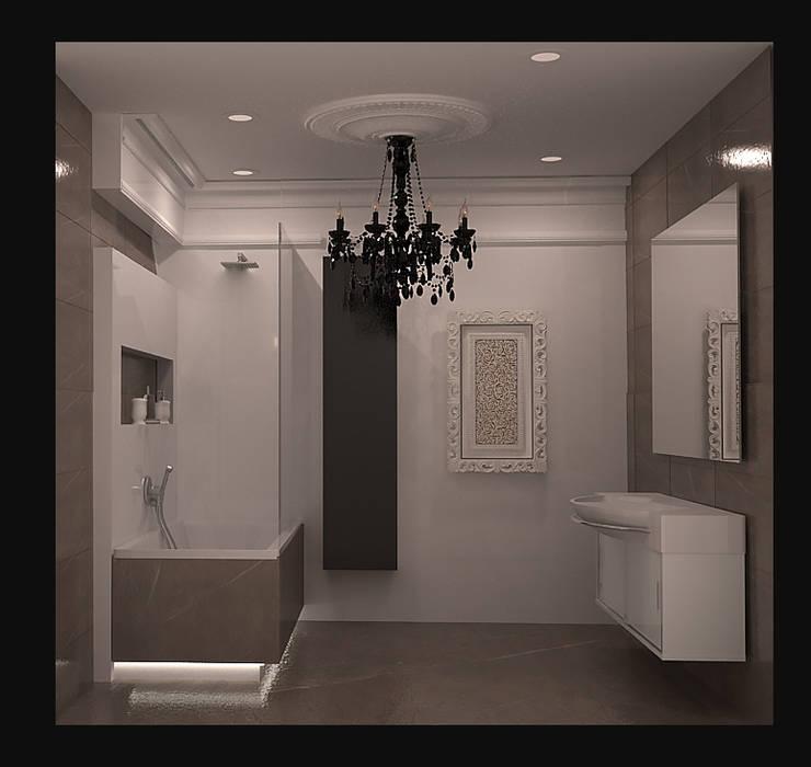 ванная вид 1.: Ванные комнаты в . Автор – freeDOM, Классический Плитка